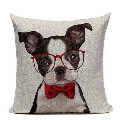 (Boston glasses) Pillow Cover