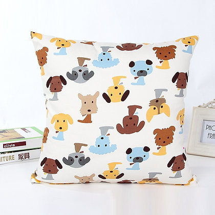 Dogs Pillow Cover