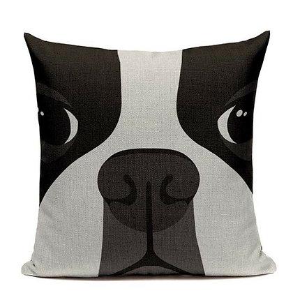 (Boston Face) Pillow Cover