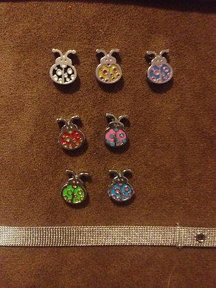 Lady Bugs Bracelet Charms