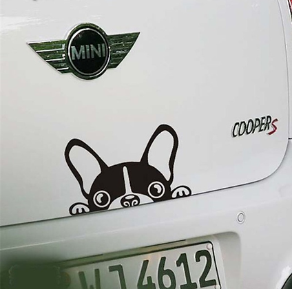 Dog car sticker