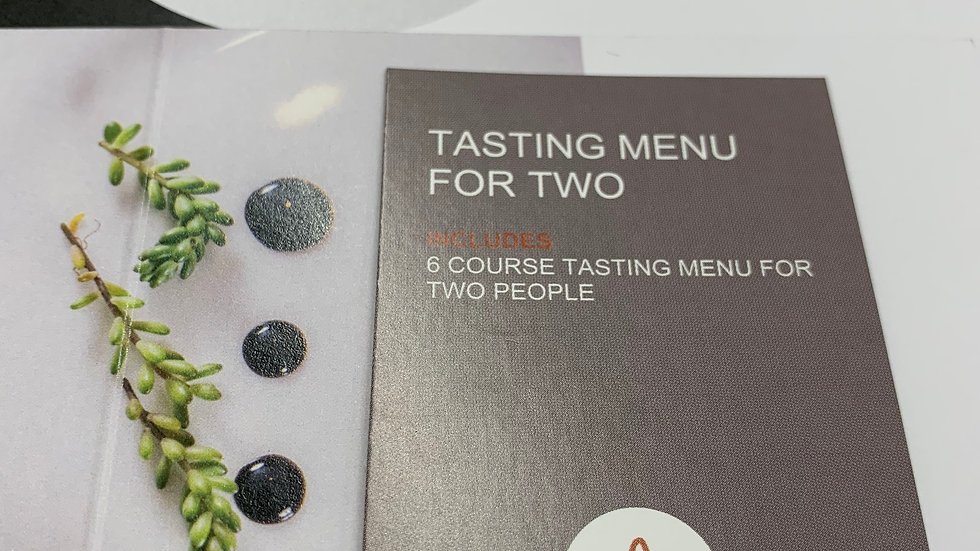 Six Course Tasting Menu For Two