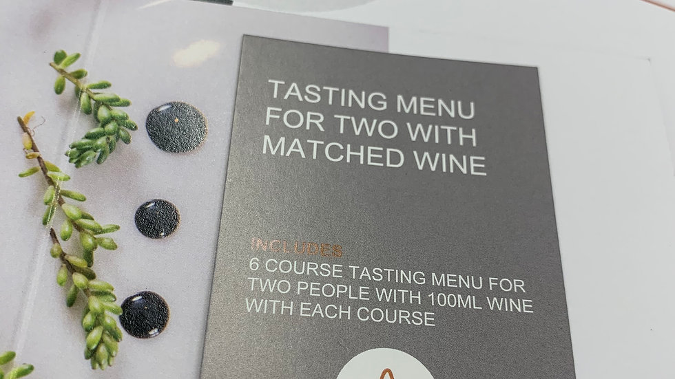 Tasting Menu For Two With Matched Wines