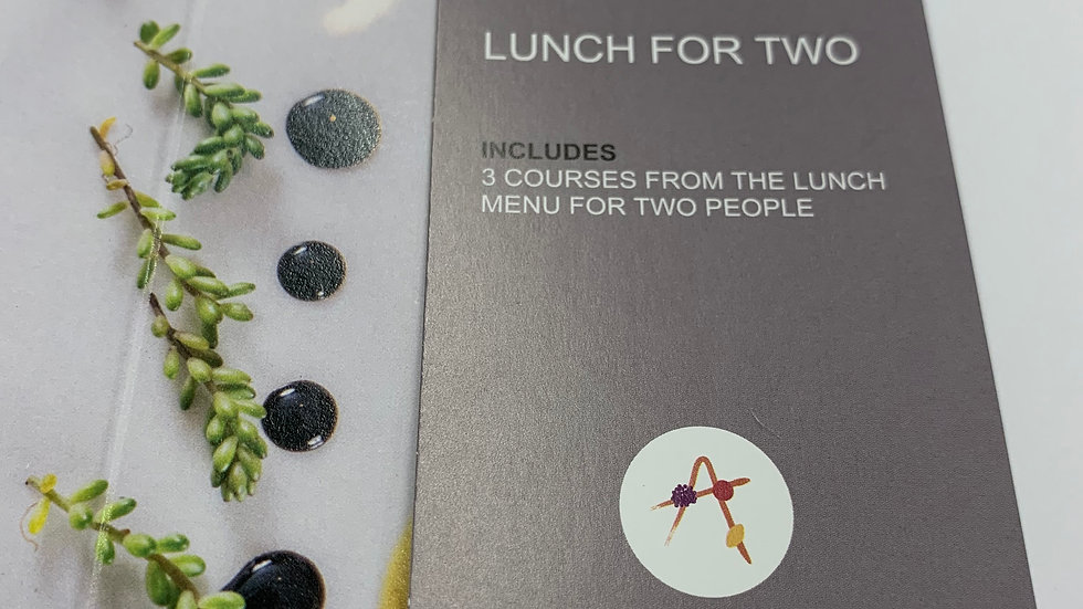 2 Course Lunch For 2