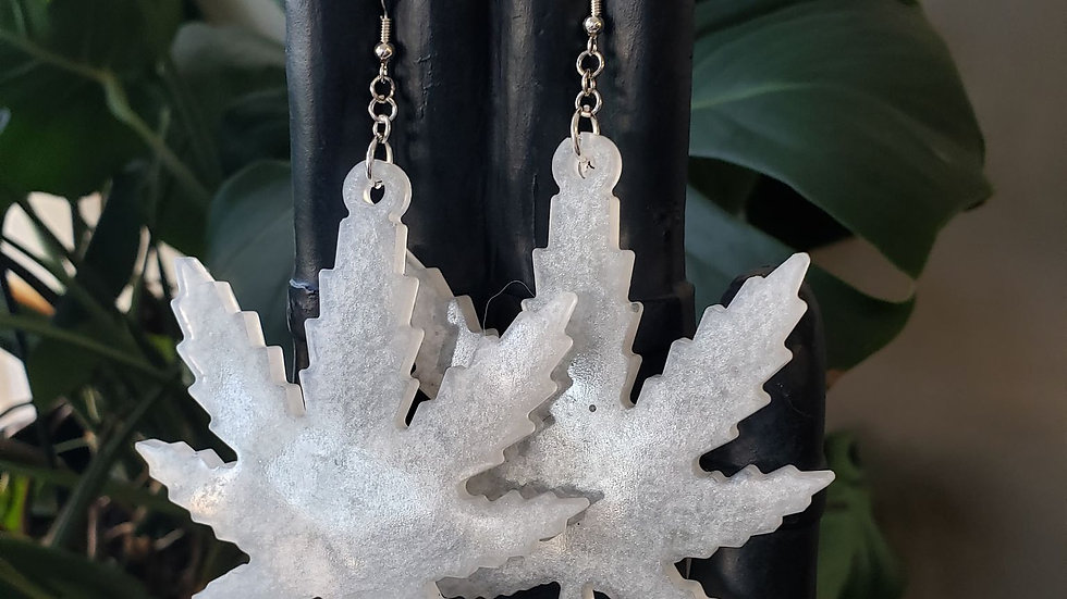 Cannabis leaf earrings