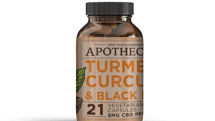 Apothecary CBD Capsules-- Turmeric Curcumin & Black Pepper