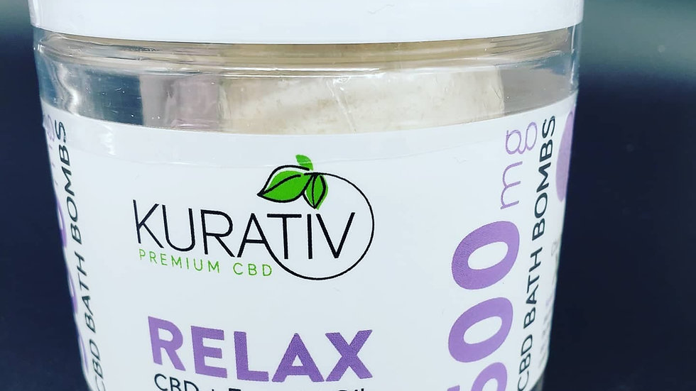 Kurativ 500mg Relax bath bombs