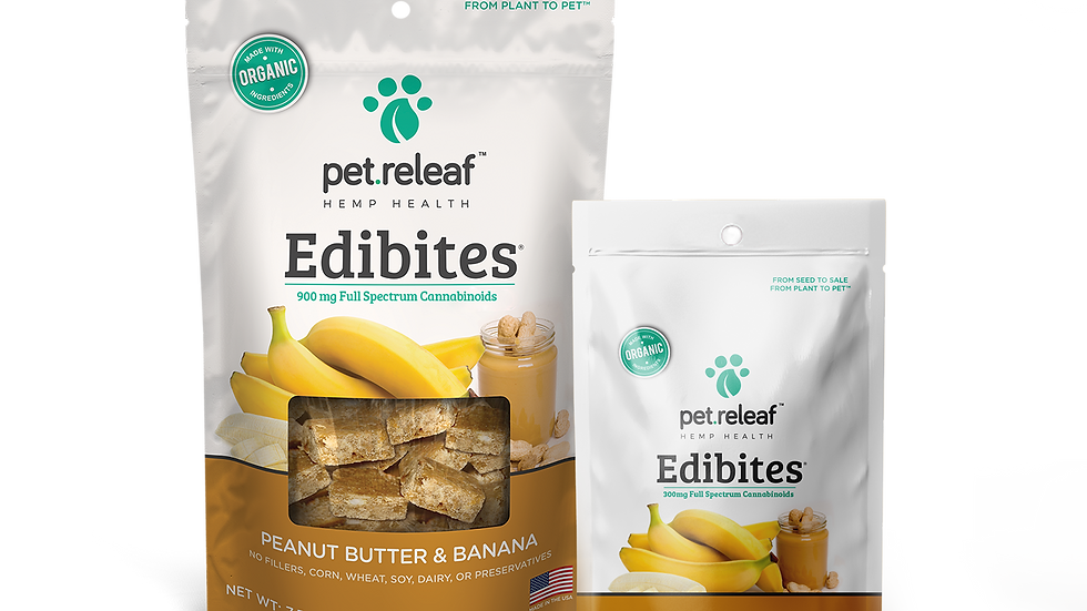 Edibites grain free soft chew pet treats sweet potato 3000mg