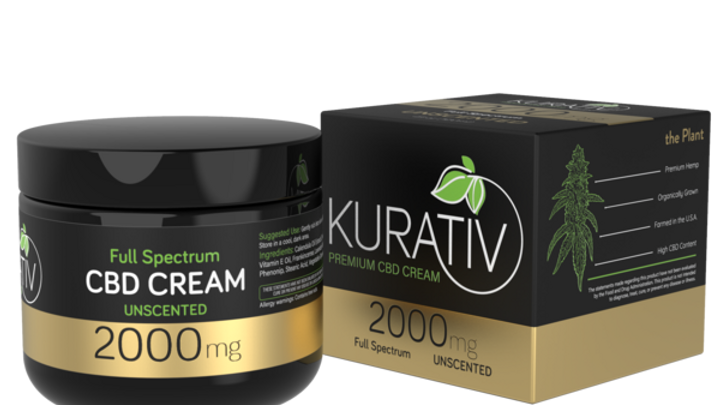 Kurativ CBD Relief Cream Full Spectrum with Calendula extract and essential oils