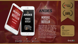 Galgo aplicacion cerveza Andes