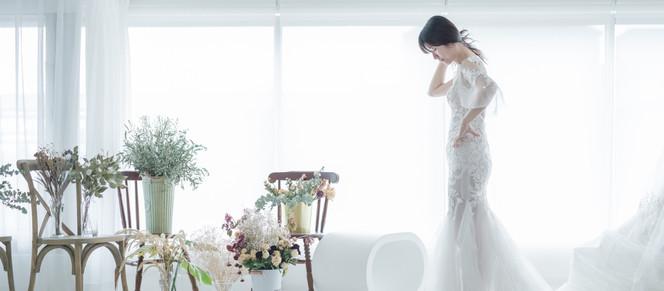 新人訂製手工婚紗禮服的過程分享
