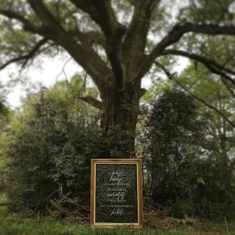 Wedding Quote Chalkboard Sign Floral Background