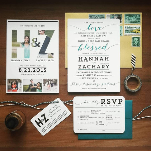 Wedding Invitation Suite Save The Date Gold Teal