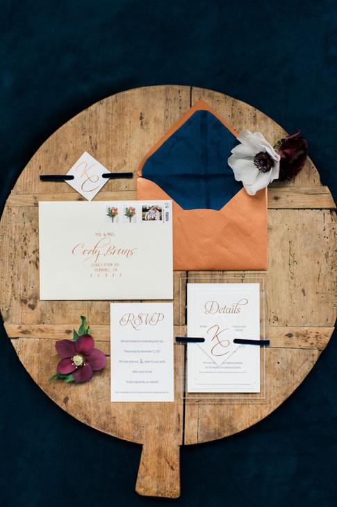 Wedding Calligraphy Envelope Address Copper Ink