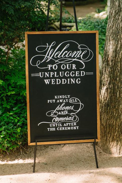 Unplugged Ceremony Wedding Chalkboard Sign.JPG
