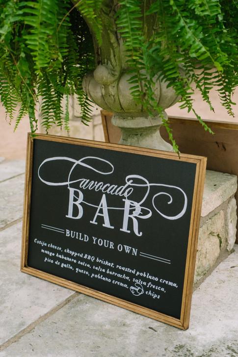 Wedding Menu Avocado Bar Chalkboard Sign.JPG