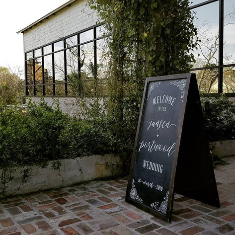 Wedding Welcome Chalkboard Sign with Flourishes