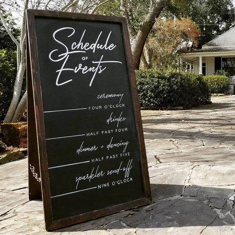 Hand Lettering Wedding Chalkboard Sign