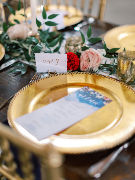 Wedding Place Setting Place Card Menu Gold Calligraphy.png