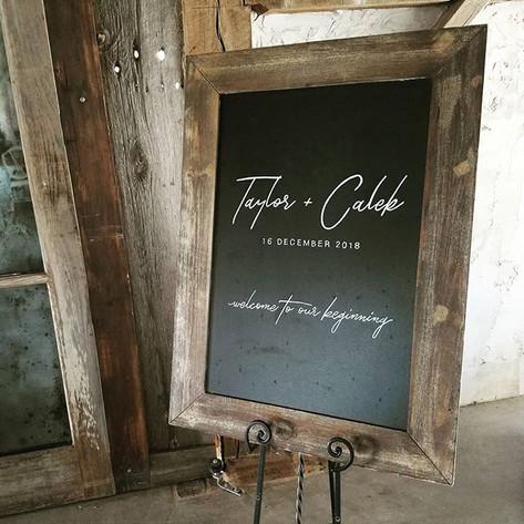 Wedding Welcome Chalkboard Sign Modern Rustic