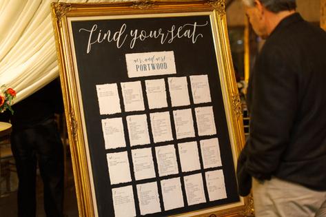 Wedding Seating Chart Chalkboard Sign Handmade Paper