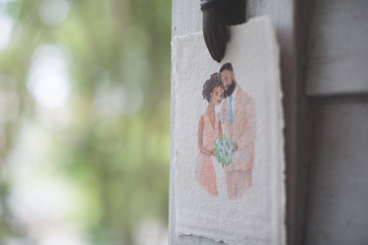 Custom Wedding Invitation Illustration