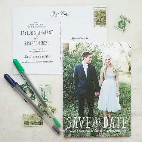 Cotton Paper Save The Date Post Card