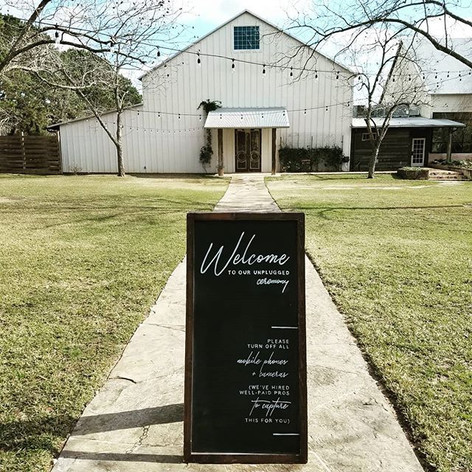 Unplugged Ceremony Wedding Chalkboard Sign
