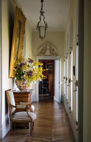 SB galerie depuis vestibule bouquet lila