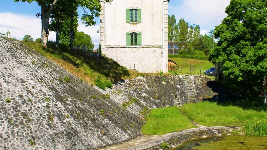 Vue depuis la levée de la Loire