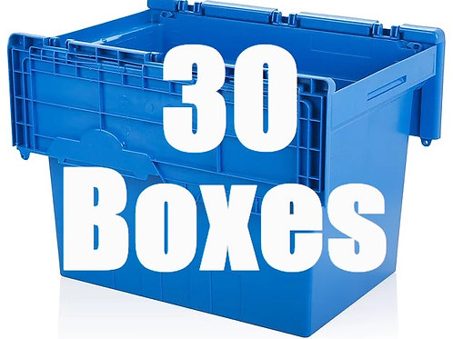 1 Bedroom Package Includes 30 Boxes.