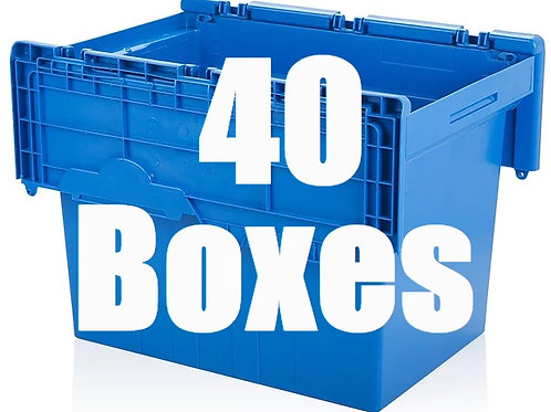 2 Bedroom Package Includes 40 Boxes.