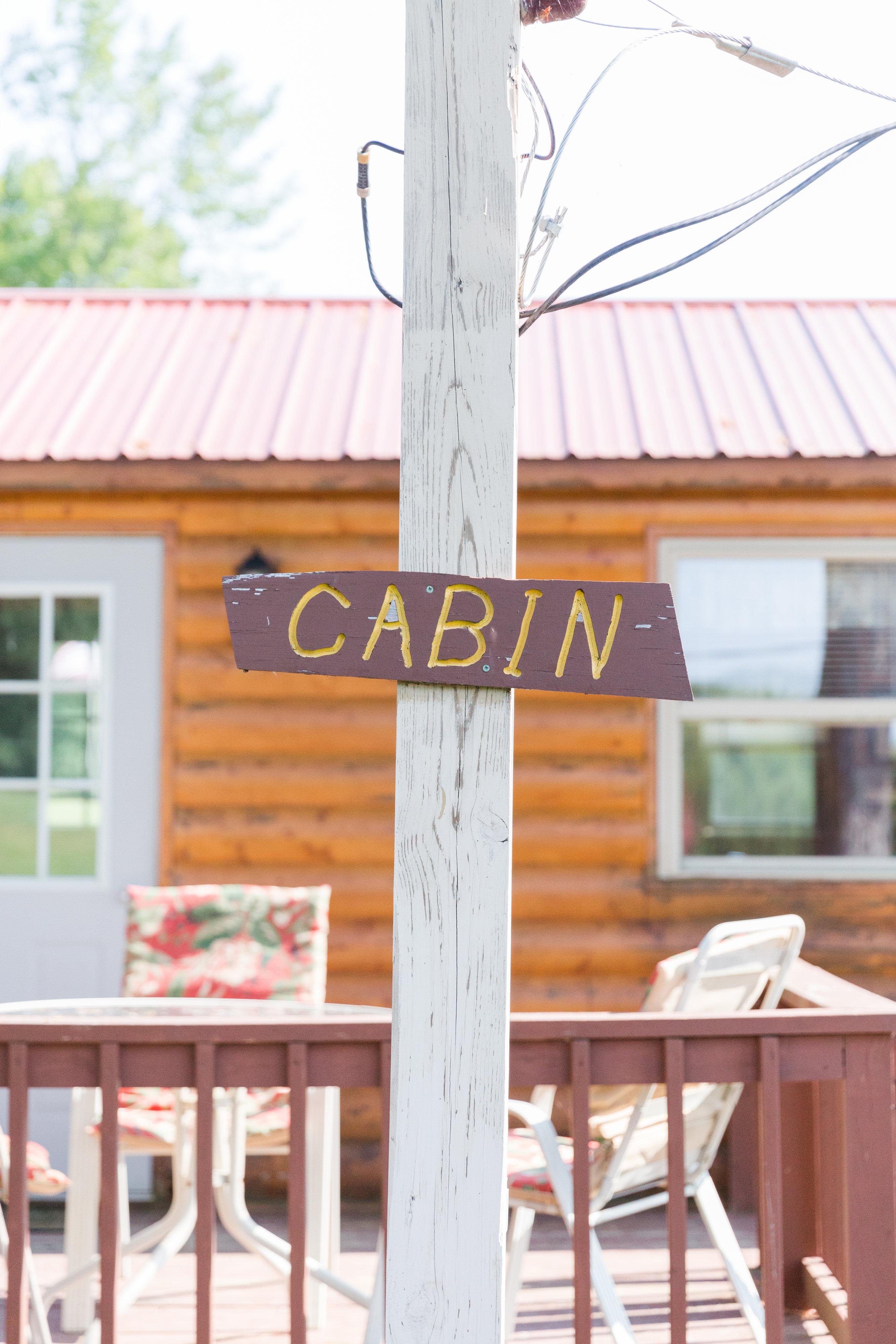 Cabin Sign