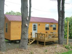 Log Cabin deck side