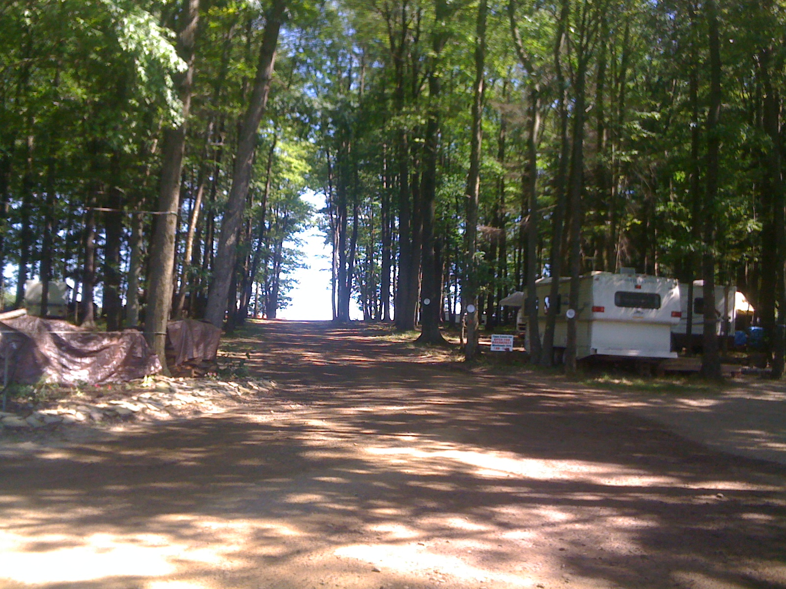 Entering Campground main driveway