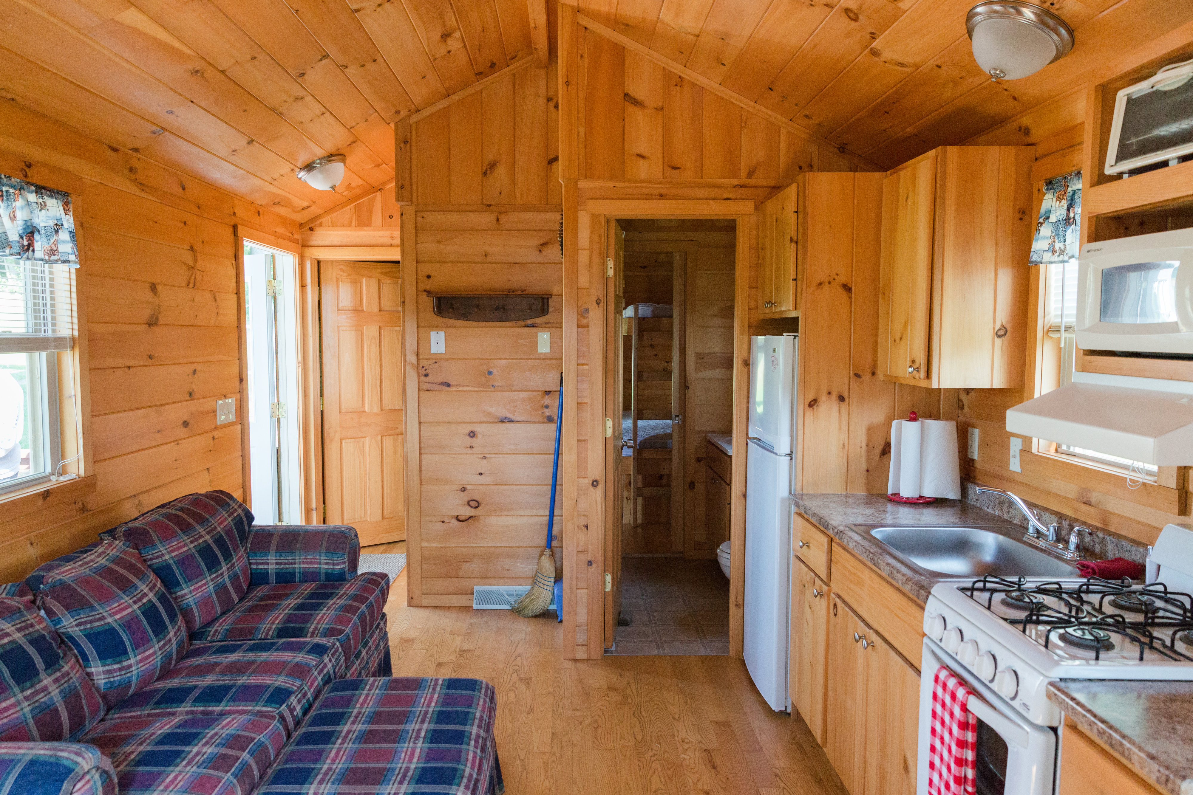 Inside Cabin from side porch