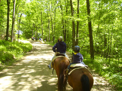 Trail Ride back from Overlook
