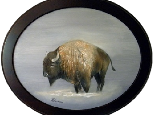 SNOWY BISON (ORIGINAL OIL)