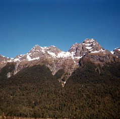 Mountain vista in New Zealand