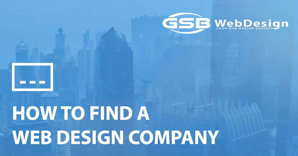 Finding A Web Design Company