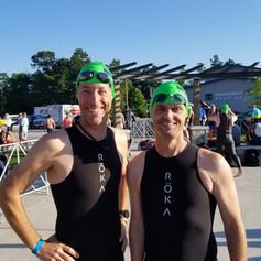Robert C and Regan P Swim Practice at IM TX