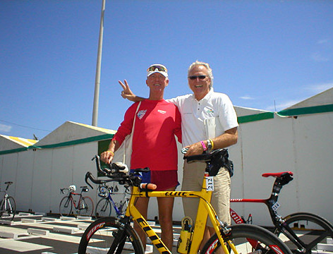 With Race Director at IM Lanzarote