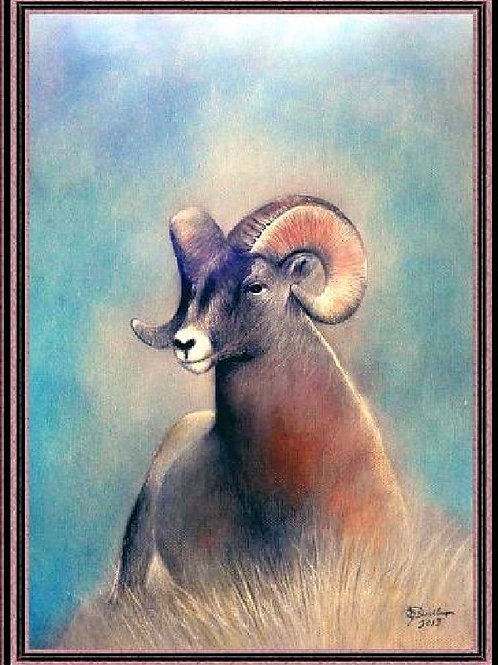 ROCKY MTN SHEEP (ORIGINAL PASTEL)