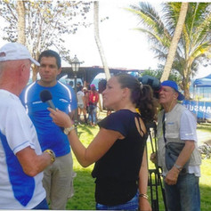 TV Interview at the ITU Sprint in Havana Cuba