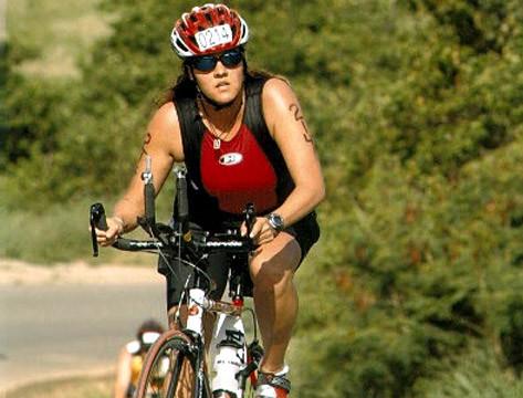 Toni I Hammering the Bike
