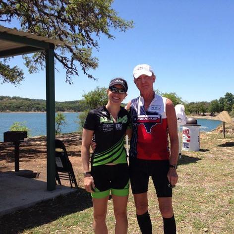 Bree S and I at Boerne Lake