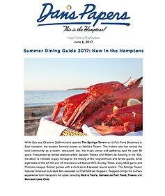 Summer Dining Guide 2017: New in the Hamptons