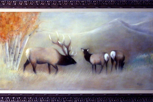 ELK WARMING UP (ORIGINAL OIL)