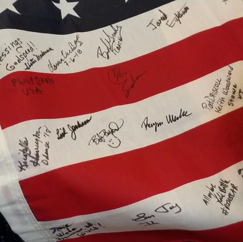 Signed US Flag at ITU Worlds