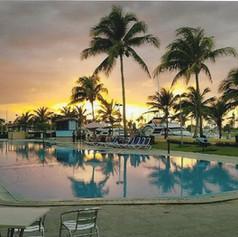 Sunset Poolside in Havana